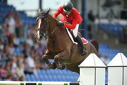 Duguet Romain, (FRA), Quorida de Treho<br /> Team Competition round 1 and Individual Competition round 1<br /> FEI European Championships - Aachen 2015<br /> © Hippo Foto - Stefan Lafrentz<br /> 19/08/15