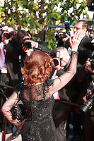 Actress Sophia Loren with photographers at the Palme d'Or  Closing Awards Ceremony red carpet at the 67th Cannes Film Festival France. Saturday 24th May 2014 in Cannes Film Festival, France.