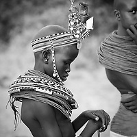 Local girl in traditional dress, Samburu, Kenya