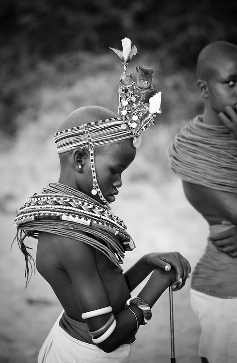 Local girl in traditional dress, Samburu, Kenya