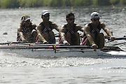 2006, U23 Rowing Championships, Hazewinkel, BELGIUM Thursday, 20.07.2006. USA BLM4X, bow richard KLIEN, Jonathen WINTERS, Daniel FELDMAN, Brian DE REGT,. Photo  Peter Spurrier/Intersport Images email images@intersport-images.com....[Mandatory Credit Peter Spurrier/ Intersport Images] Rowing Course, Bloso, Hazewinkel. BELGUIM