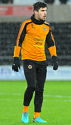 Ruben Neves of Wolverhampton Wanderers warms up- Mandatory by-line: Nizaam Jones/JMP- 17/01/2018 - FOOTBALL - Liberty Stadium- Swansea, Wales - Swansea City v Wolverhampton Wanderers - Emirates FA Cup third round proper