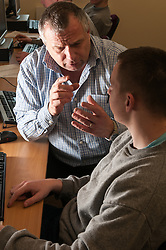 Prisoners in a young offenders institution learning IT skills, HMYOI Wetherby