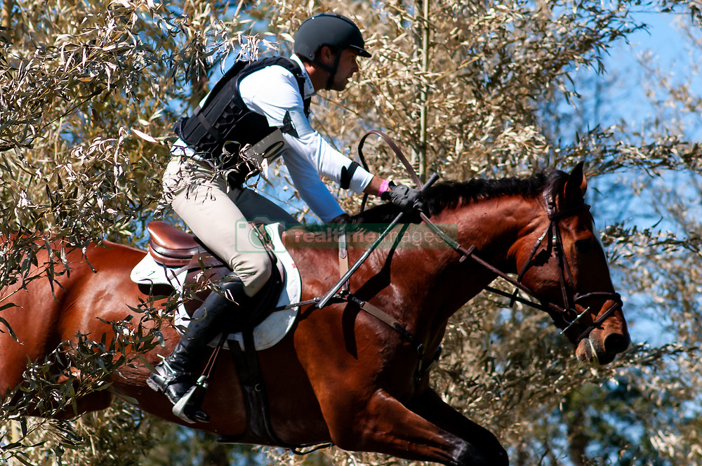 March 22, 2019 - Raeford, North Carolina, US - March 23, 2019 - Raeford, N.C., USA - WILLIAM COLEMAN of the United States riding OFF THE RECORD competes in the cross country CCI-4S division at the sixth annual Cloud 11-Gavilan North LLC Carolina International CCI and Horse Trial, at Carolina Horse Park. The Carolina International CCI and Horse Trial is one of North AmericaÃ•s premier eventing competitions for national and international eventing combinations, hosting International competition at the CCI2*-S through CCI4*-S levels and National levels of Training through Advanced. (Credit Image: © Timothy L. Hale/ZUMA Wire)