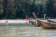 Longboats on Phang Nga Bay/ Andaman Sea, Thailand