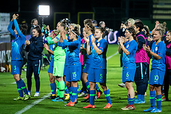 Players of Slovenia after the match of football match between Slovenia and Nederland in qualifying Round of Woman's qualifying for EURO 2021, on October 5, 2019 in Mestni stadion Fazanerija, Murska Sobota, Slovenia. Photo by Blaž Weindorfer / Sportida