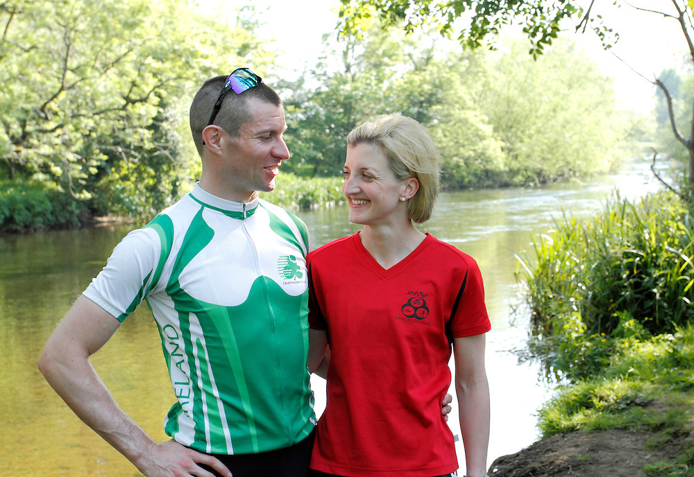 Aoife and Joe Lynch, Irish Triathletes training at Castletown House in Celbridge, Co. Kildare.