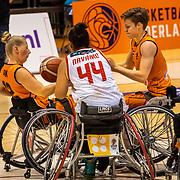 NLD/Rotterdam/20190706 - BN'ers spelen rolstoelbasketbal tijdens EK rolstoelbasketbal vrouwen, nr.9 Jitske Visser en nr.12 Saskia Pronk
