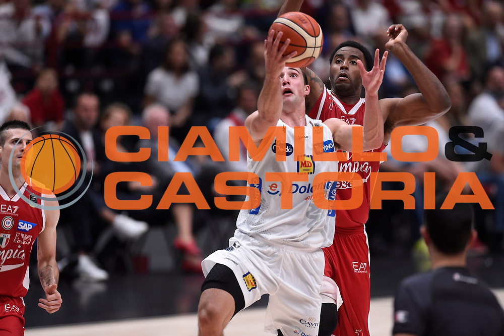Aaron Craft<br /> EA7 Emporio Armani Olimpia Milano - Dolomiti Energia Aquila Basket Trento<br /> Lega Basket Serie A, Semifinali Playoff 2016/2017<br /> Milano, 25/05/2017<br /> Foto Ciamillo-Castoria