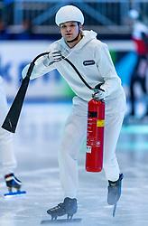 11-01-2019 NED: ISU European Short Track Championships 2019 day 1, Dordrecht<br /> Ice preparation
