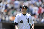 CHICAGO - JUNE 12:  Phil Humber #41 of the Chicago White Sox looks on against the Oakland Athletics on June 12, 2011 at U.S. Cellular Field in Chicago, Illinois.  The White Sox defeated the Athletics 5-4.  (Photo by Ron Vesely)   Subject:  Philip Humber