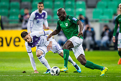 Mitch Apau of NK Olimpija Ljubljana during football match between NK Olimpija Ljubljana and NK Maribor in Round #25 of Prva Liga Telekom Slovenije 2017/18, on March 31, 2018 in SRC Stozice, Ljubljana, Slovenia. Photo by Ziga Zupan / Sportida