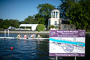 Henley on Thames, England, United Kingdom, 3rd July 2019, Henley Royal Regatta map and layout of The temple Island Meadows, with Temple in the background, [© Peter SPURRIER/Intersport Image]<br /> <br /> 08:01:19 1919 - 2019, Royal Henley Peace Regatta Centenary,