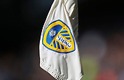 The Leeds United badge on a corner flag during the EFL Sky Bet Championship match between Leeds United and Bolton Wanderers at Elland Road, Leeds, England on 30 March 2018. Picture by Paul Thompson.