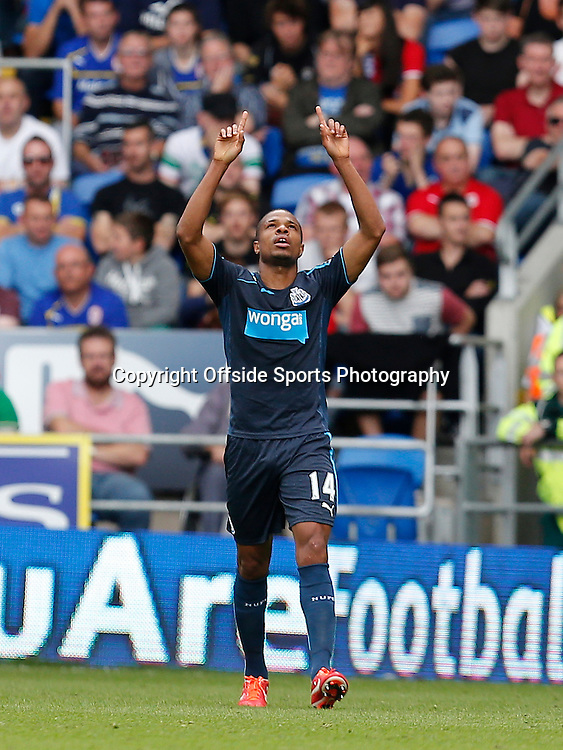 5th October 2013- Barclays Premier League - Cardiff City Vs Newcastle United - Loic Remy of Newcastle United celebrates his first goal (0-1) - Photo: Paul Roberts / Offside.
