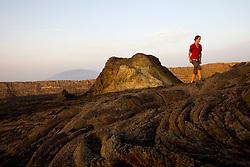 Hiking on the Erte Ale Volcano