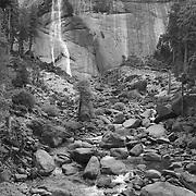 Nevada Falls - Autumn - Yosemite - Black & White