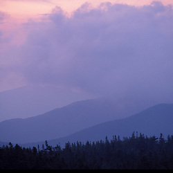 Appalachian Trail - Clouds and sunrise in Maine's Mahoosuc Mountains.  Mahoosuc Arm, ME
