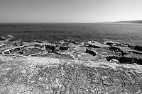 Castro Marina - Salento - Puglia - Porto di Castro Marina. Banchina in cemento.