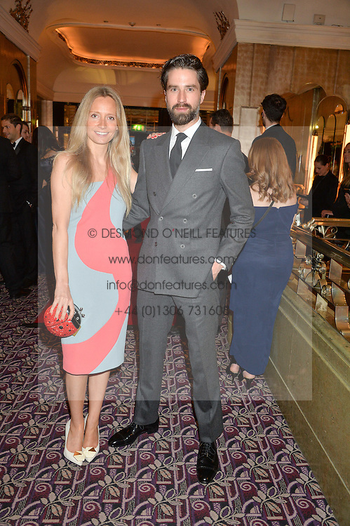 MARTHA WARD and JACK GUINNESS at the WGSN Global Fashion Awards 2015 held at The Park Lane Hotel, Piccadilly, London on 14th May 2015.
