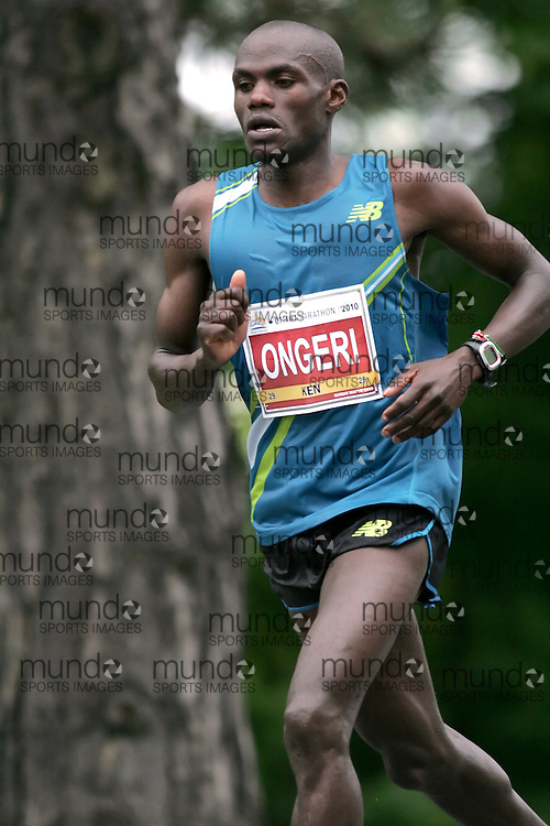 (Ottawa, ON --- May 30, 2010)   JOSEPHAT ONGERI running in the marathon during the Ottawa Race Weekend. Photograph copyright Sean Burges / Mundo Sport Images