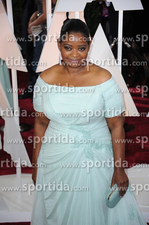 22.02.2015, Dolby Theatre, Hollywood, USA, Oscar 2015, 87. Verleihung der Academy of Motion Picture Arts and Sciences, im Bild Octavia Spencer // attends 87th Annual Academy Awards at the Dolby Theatre in Hollywood, United States on 2015/02/22. EXPA Pictures &copy; 2015, PhotoCredit: EXPA/ Newspix/ PGMP<br /> <br /> *****ATTENTION - for AUT, SLO, CRO, SRB, BIH, MAZ, TUR, SUI, SWE only*****