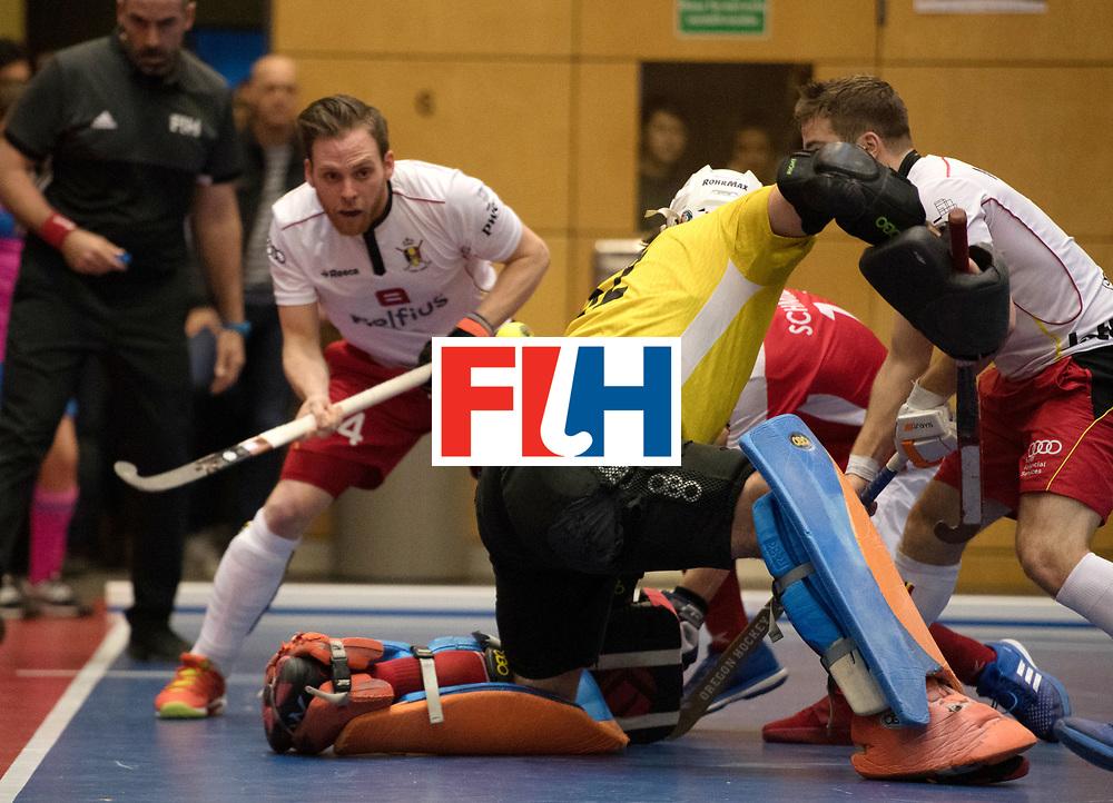 BERLIN - Indoor Hockey World Cup<br /> Austria - Belgium<br /> foto: ZIMMER Tanguy<br /> WORLDSPORTPICS COPYRIGHT FRANK UIJLENBROEK