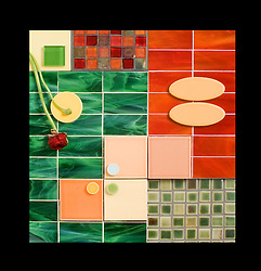 Colored ceramic tile