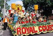 Royal Court, Aloha Week Parade, Waikiki, Oahi, Hawaii