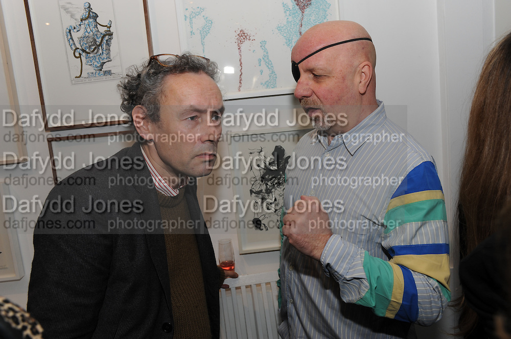 MARK HUDSON; JACK BARRON, Vanity Fair  hosted  UK Premiere and party for Beyond Time. A film about the artist William Turnbull made by his son Alex Turnbull. Narrated by Jude Law. I.C.A. London. 17 November 2011<br /> <br />  , -DO NOT ARCHIVE-© Copyright Photograph by Dafydd Jones. 248 Clapham Rd. London SW9 0PZ. Tel 0207 820 0771. www.dafjones.com.