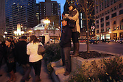 Great Chicago Fire Festival on Saturday, October 4, 2014. Getting a higher vantage point for pictures of house in Veteran's Memorial area