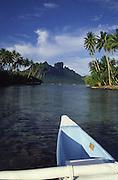 Outrigger canoe, Bora Bora, French Polynesia<br />