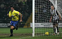 Photo: Paul Thomas.<br /> Notts County v Hereford United. Coca Cola League 2. 22/12/2006.<br /> <br /> Tim Sills of Hereford scores.