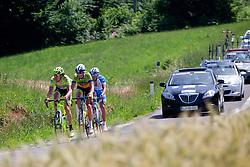 CACCIA Diego of Farnese Vini, PASQUALON Andrea of Colnago and BITENC Jure of KK Sava during 2nd Stage (177,4 km) at 19th Tour de Slovenie 2012, on June 15, 2012, in Kocevje, Slovenia. (Photo by Matic Klansek Velej / Sportida.com)