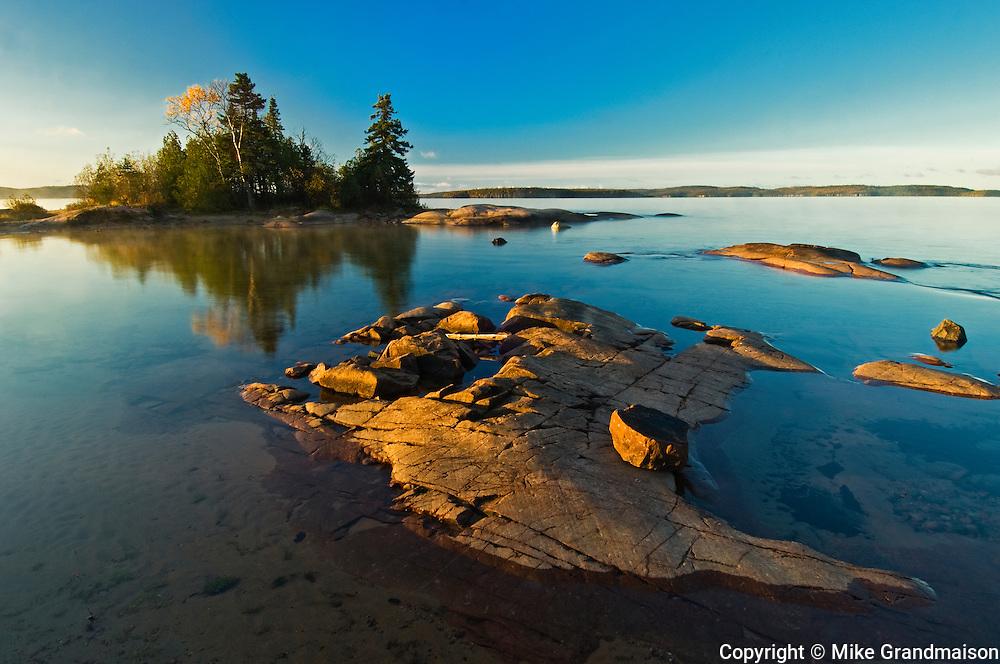 Rocky shoreline of Lake Superior <br /> Rossport<br /> Ontario<br /> Canada