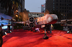 Celebrities walk the red carpet for the 'Rogue One: A Star Wars Story' world premiere held at the Pantages Theatre in Hollywood. 10 Dec 2016 Pictured: GV, General View. Photo credit: American Foto Features / MEGA TheMegaAgency.com +1 888 505 6342
