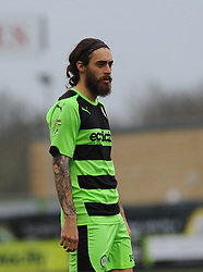 Forest Green Rovers's Rob Sinclair - Photo mandatory by-line: Nizaam Jones - Mobile: 07966 386802 - 14/03/2015 - SPORT - Football - Nailsworth - The New Lawn - Forest Green Rovers v Braintree  - Vanarama Football Conference.