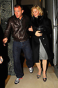 04.SEPTEMBER.2007. LONDON<br /> <br /> A VERY DRUNK LOOKING MADONNA AND HUSBAND GUY LEAVING CLARIDGES HOTEL AT 1.00AM AND WHEN SHE GOT IN THE CAR HER HEAD STARTED ROLLING BACK AND FORTH AND EVENTUALLY LOOKED LIKE SHE FELL ASLEEP.<br /> <br /> BYLINE: EDBIMAGEARCHIVE.CO.UK<br /> <br /> *THIS IMAGE IS STRICTLY FOR UK NEWSPAPERS AND MAGAZINES ONLY*<br /> *FOR WORLD WIDE SALES AND WEB USE PLEASE CONTACT EDBIMAGEARCHIVE - 0208 954 5968*