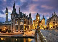 Der Stadtkern von Gent ist eine Fußgängerzone, die wie ein Museum von flämischer Architektur wirkt und von der Macht der Stadt im Mittelalter zeugt.