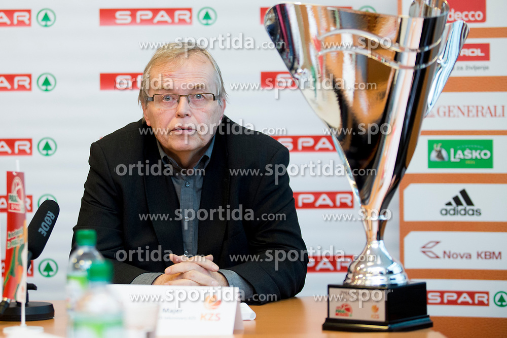 Boris Majer at press conference before Finals of Spar Cup 2018, on January 31, 2018 in Ljubljana, Slovenia. Photo by Urban Urbanc / Sportida