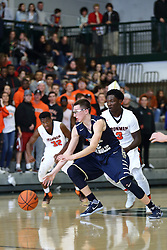 21 November 2016: Intercity Boys Basketball game at the Shirk Center, Bloomington, Illinois. Normal Community Ironmen and Bloomington Central Catholic Saints