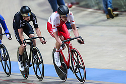 March 1, 2019 - Pruszkow, Poland - Wojciech Pszczolarski (POL),Thomas Sexton (NZL) compete during the Men's Points Race at the UCI Track Cycling World Championships in Pruszkow on March 1, 2019. (Credit Image: © Foto Olimpik/NurPhoto via ZUMA Press)