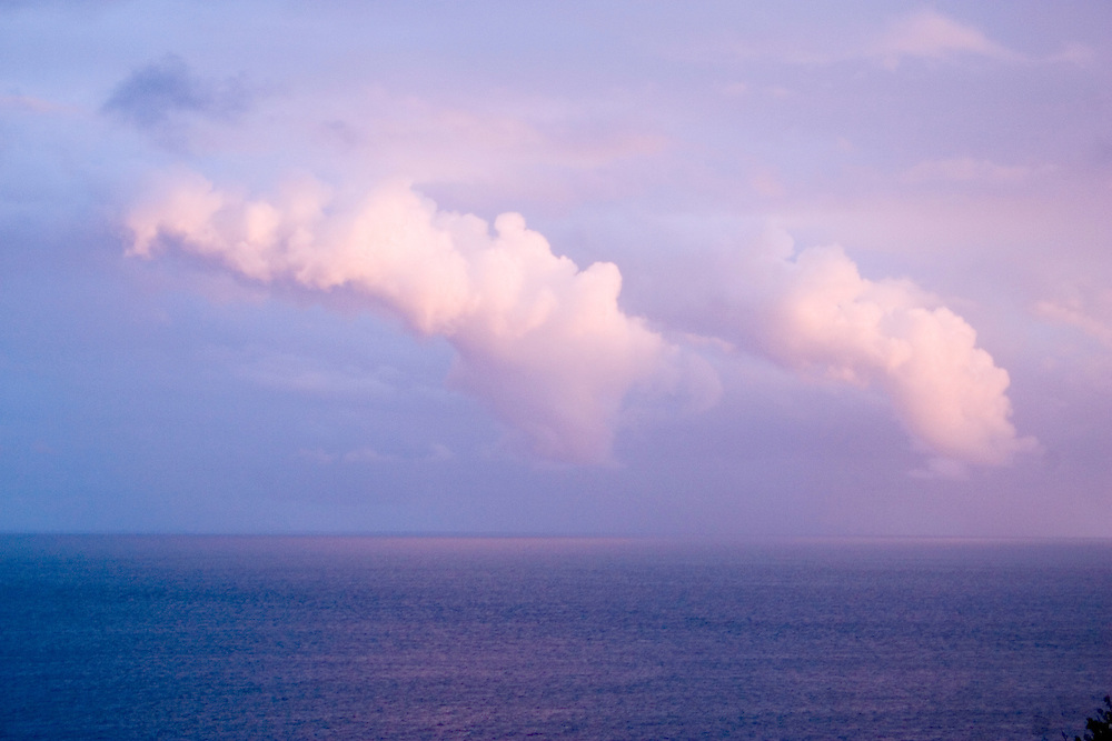 Clouds over the Caribbean Sea, off of the East End of St. John, U.S. Virgin Islands