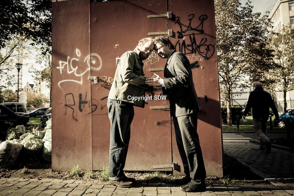 Bruno Vanden Broucke en Wim Helsen samen op tournee. credits sander de wilde