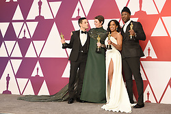 Rami Malek, winner of Best Actor for 'Bohemian Rhapsody'; Olivia Colman, winner of Best Actress for 'The Favourite'; Regina King, winner of Best Supporting Actress for 'If Beale Street Could Talk'; and Mahershala Ali, winner of Best Supporting Actor for 'Green Book' pose in the press room during the 91st Annual Academy Awards at Hollywood and Highland on February 24, 2019 in Los Angeles, CA, USA. Photo by Lionel Hahn/ABACAPRESS.COM