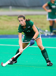 August 29, 2008 - CHARLOTTESVILLE, VA -  William and Mary Tribe midfielder/forward Wesley Drew (6) in action against UVA.   The Virginia Cavaliers field hockey team defeated the William and Mary Tribe 5-0 on the University Hall Turf Field on the Grounds of the University of Virginia in Charlottesville, VA.
