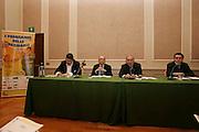 03/03/2008<br /> Presentazione programmi delle Nazionali 2008<br /> Nella foto: Fausto Maifredi, Carlo Recalcati, Mimmo Cacciuni<br /> Foto Ciamillo