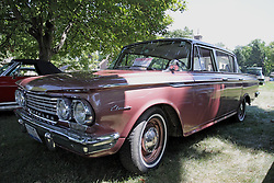 03 August 2013:  1962 Rambler Classic 4 door.<br /> <br /> Displayed at the McLean County Antique Automobile Association Car show at David Davis Mansion in Bloomington Illinois