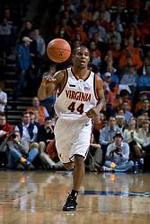 Virginia guard Sean Singletary (44) in action against Virginia Tech.  The Virginia Cavaliers men's basketball team faced the Virginia Tech Hokies at the John Paul Jones Arena in Charlottesville, VA on January 16, 2008.