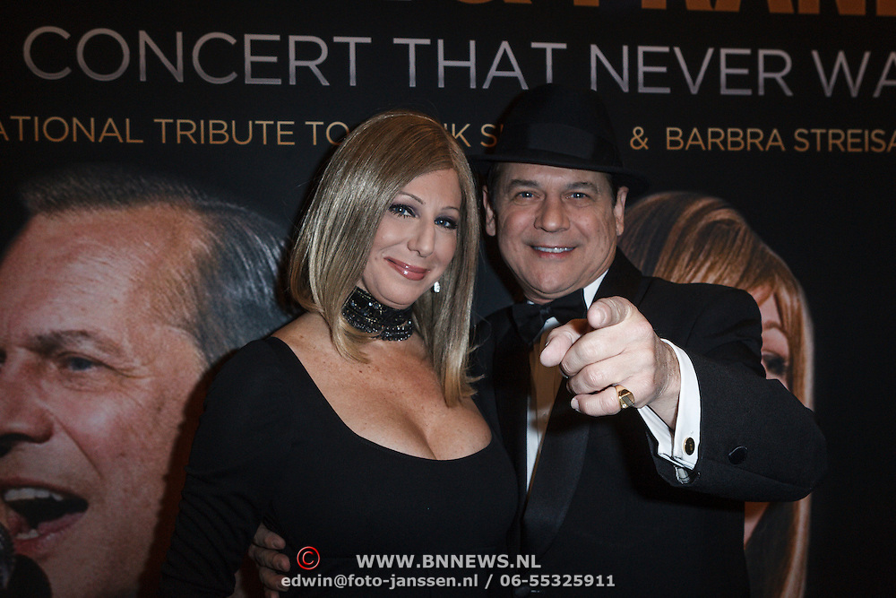 NLD/Amsterdam/20131101 - Premiere Barbra & Frank The Concert That Never Was, Sharon Owens en Sebastian Anzaldo